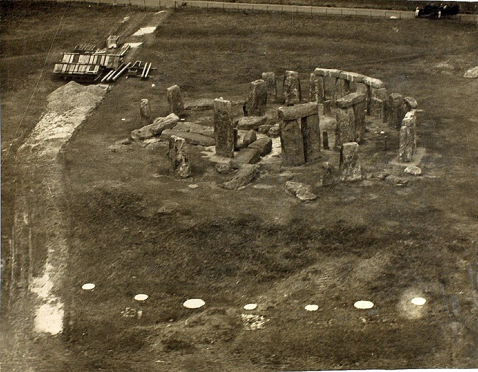Post-World War I aerial photograph