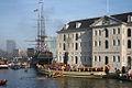 Stoomboot Christiaan Brunings tijdens de intocht van Sinterklaas bij het Scheepvaartmuseum te Amsterdam.JPG