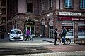 Strasbourg verbalisation cycliste place de la Bourse janvier 2015.jpg