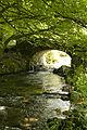 Stream and old bridge on Exmoor, Devon (2545075797).jpg