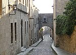 The Street of Knights (Odos Ippoton) in Rhodes, Greece