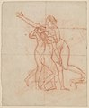 Study for the Wife and Daughters of Brutus (recto); Study of a Male Nude (verso) MET DP210694.jpg