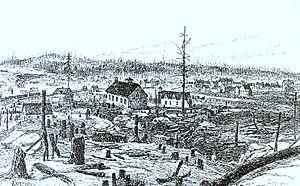 Greater Sudbury - Artist's rendering of Sudbury in 1888