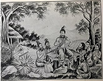 Shuka - Sukar addressing the saints in the Naimisaranya Forest