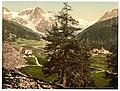 Sulden, the Schontauftspitze (i.e., Schontaufspitze) and Suldenspitze, Tyrol, Austro-Hungary-LCCN2002711128.jpg