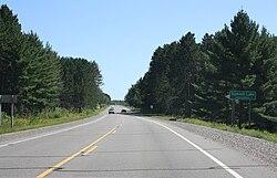 Summit Lake sign on US 45