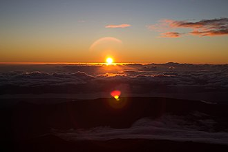 Piton des Neiges - Sunrise from the top of Piton des Neiges.