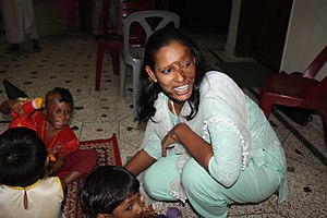 Acid throwing - Acid attack victims in Bangladesh.