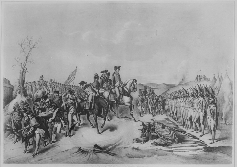 Surrender of the Hessian Troops to General Washington, after The Battle of Trenton. December 1776. Copy of lithograph, 1 - NARA - 532880
