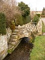 Sutton Poyntz, footbridge to Bellamy Cottage - geograph.org.uk - 1708156.jpg