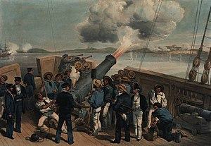 Bombardment of Sveaborg during the Crimean War.