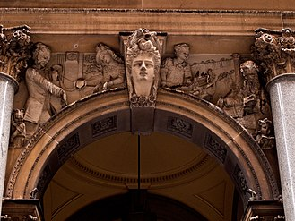 General Post Office, Sydney - Example of the 'realistic' Pitt Street Carvings by Tomaso Sani.