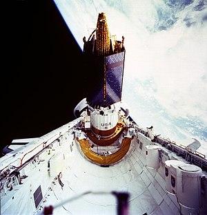 STS-43 - Atlantis deploying TDRS-E