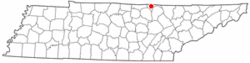 Location of Byrdstown, Tennessee
