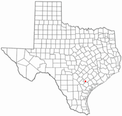 Location of Yorktown, Texas