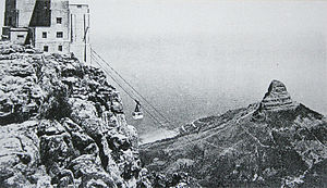 Table Mountain Aerial Cableway - The old Cableway on Table Mountain in 1929