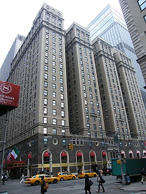 The Michelangelo - The historic Taft Hotel building in 2009