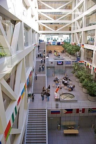 Marriott School of Business - The atrium of the Tanner Building's east wing