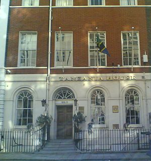 High Commission of Tanzania, London - Image: Tanzania High Commission UK