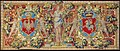 Tapestry with the coats of arms of Poland (White Eagle) and Lithuania (Pahonia) and a figure of Victory.jpg