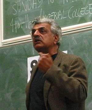 Tariq Ali - Ali at Imperial College, London in November 2003