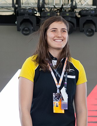 Tatiana Calderón - Image: Tatiana Calderón GP3 Driver at Spanish GP 2017