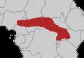 Tauraco leucolophus map.png