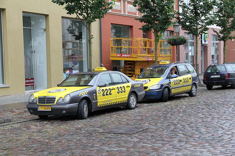 Preço do táxi na Lituânia
