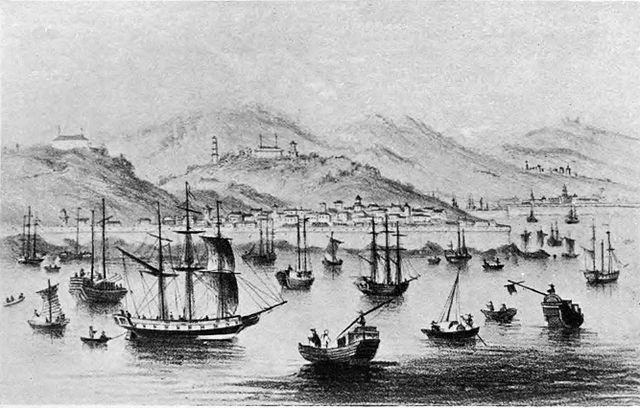 Amoy,now called Xiamen,shortly after opening the port to foreign trade