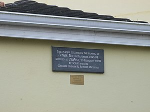 "Kilfenora - A plaque on the Kilfenora village hall commemorating ""Ted Fest"""