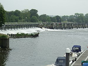 Teddington Lock - Barrage at Teddington Lock