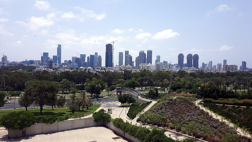 Tel Aviv panorama from the Yitzhak Rabin Center