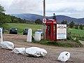 Telephone box, Clova - geograph.org.uk - 1535149.jpg