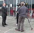 Television interview Fort Regent Jersey.jpg