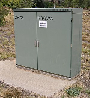 Digital loop carrier - Image: Telstra roadside cabinet housing a RIM and CMUX