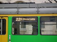 Temporary tram line 22 in Poznan (3).JPG