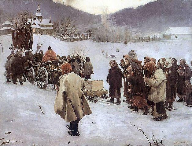 [✔] Empire d'Autriche-Hongrie 628px-Teodor_Axentowicz_-_Pogrzeb_huculski