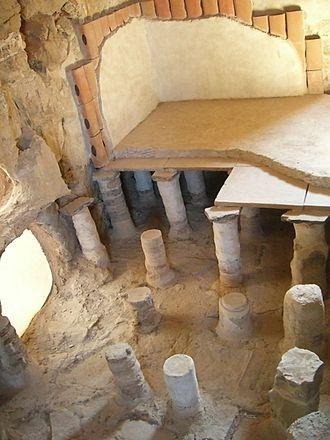 Masada - Image: Termas en Masada