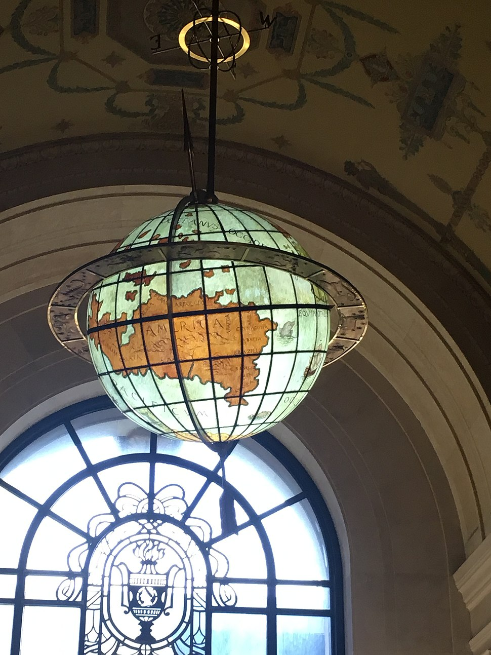 Terrestrial Globe created by Sterling Bronze Company