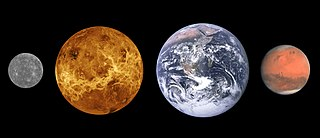 Terrestrial planet planet that is composed primarily of silicate rocks or metals. Within the Solar System, the terrestrial planets are the inner planets closest to the Sun, i.e. Mercury, Venus, Earth, and Mars