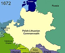 Poland losing Podolia in 1672