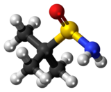 Ball-and-stick model of tert-butanesulfinamide