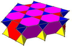 Tetrahedral-truncated tetrahedral honeycomb slab.png