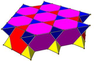 Quarter hypercubic honeycomb