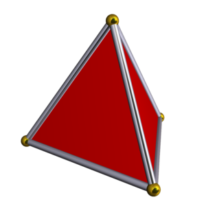 Simplex - A regular 3-simplex or tetrahedron