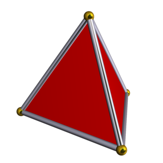 Polyhedron solid in three dimensions with flat faces