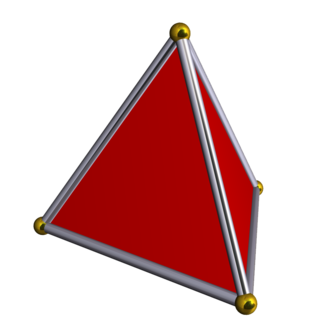 Rectified 5-cell - Image: Tetrahedron