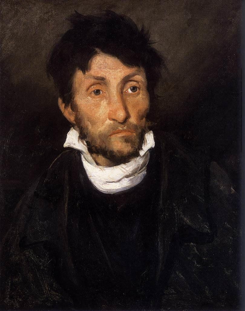 Théodore Géricault - Portrait of a Kleptomaniac - WGA08636