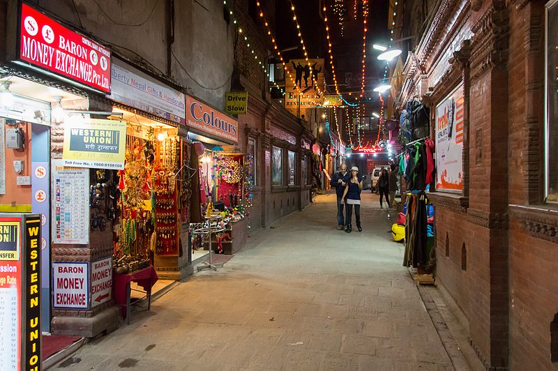 File:Thamel sidestreets at night - Kathmandu, Nepal - panoramio.jpg