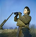 The Auxiliary Territorial Service at An Anti-aircraft Gun Site in Britain, December 1942 TR454.jpg